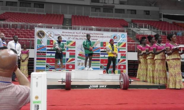 Nigeria female weightlifter